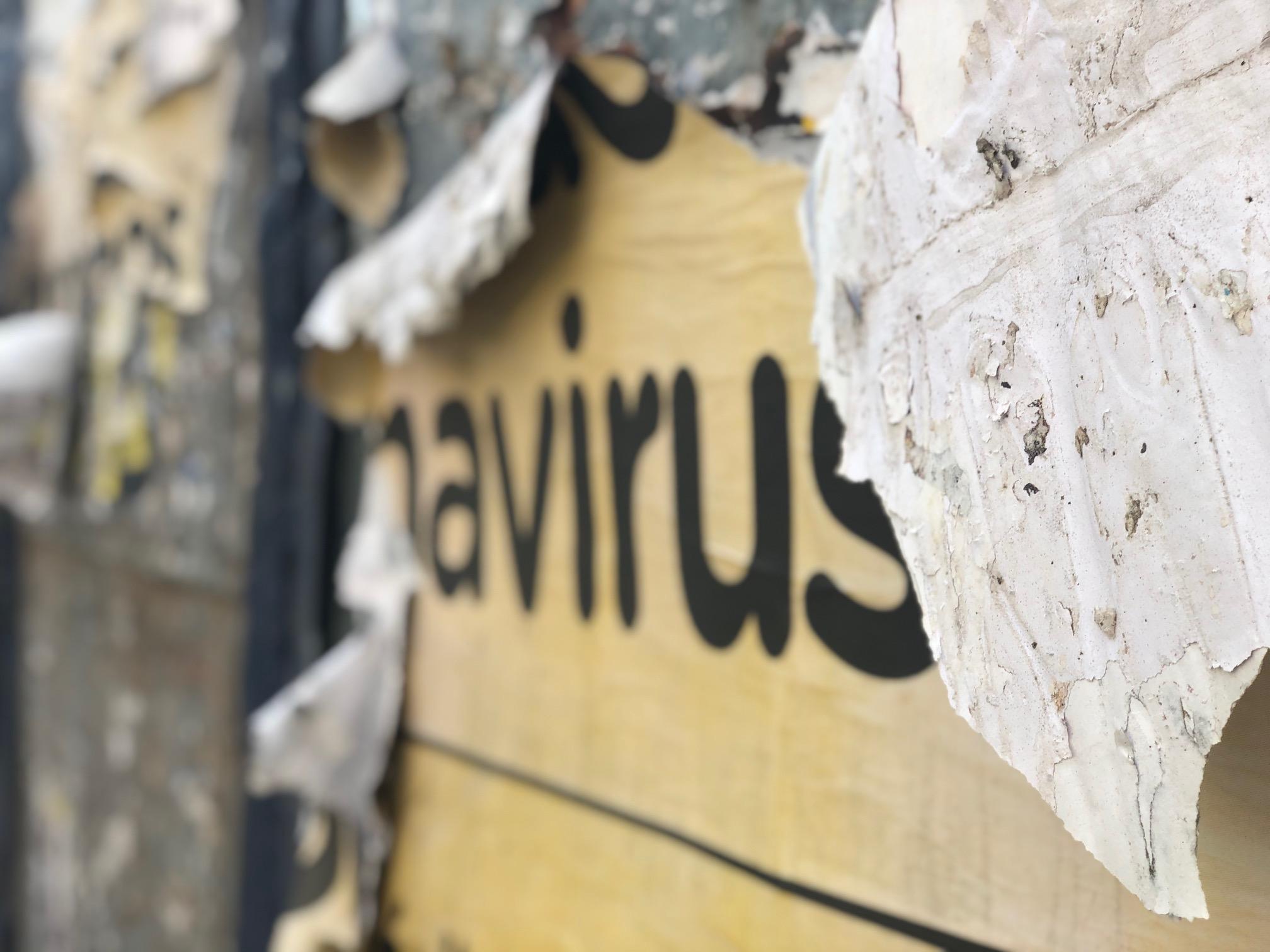 Cartel Coronavirus COVID-19 Buenos Aires